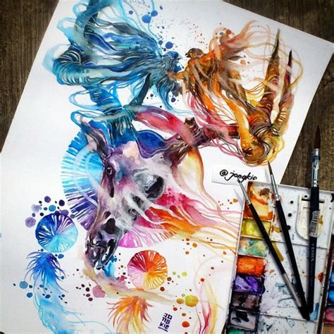watercolor tattoo jakarta 197 best images on etchings canvases and