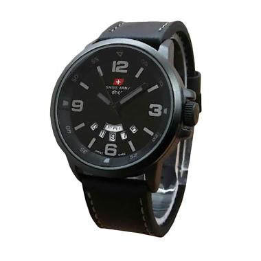 Jam Tangan Fossil Leather Hitam List Abu Jual Swiss Army Maskulin 1128hm Water Resistant Sport