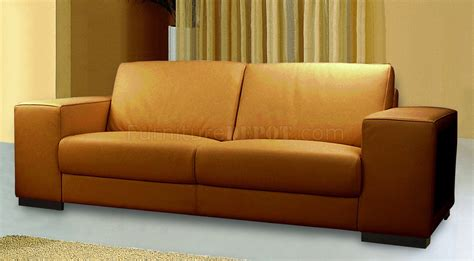thick leather sofa tobacco full thick leather modern sofa w options
