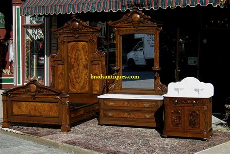 renaissance bedroom set walnut victorian renaissance revival bedroom set