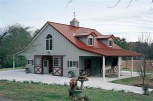 Barn Plans With Living Space Horse Barn With Living Quarters Above New Day