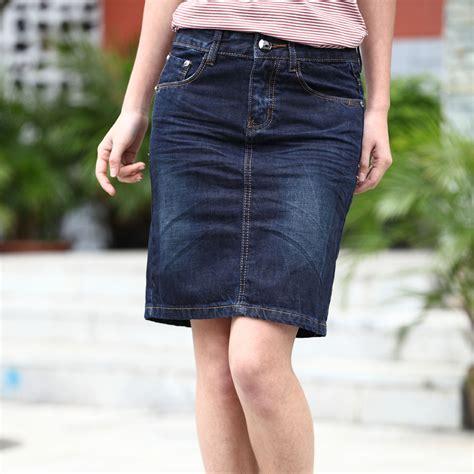 womans denim skirt dress ala