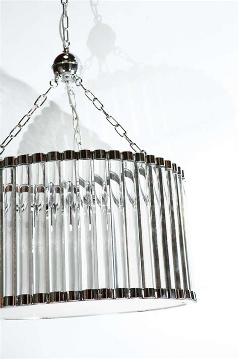 Drum Pendant Chandelier With Crystals stunning bars drum italian chandelier at 1stdibs