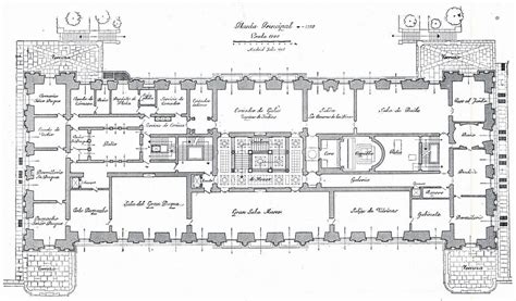 elysee palace floor plan the first floor plan liria palace drawing from the