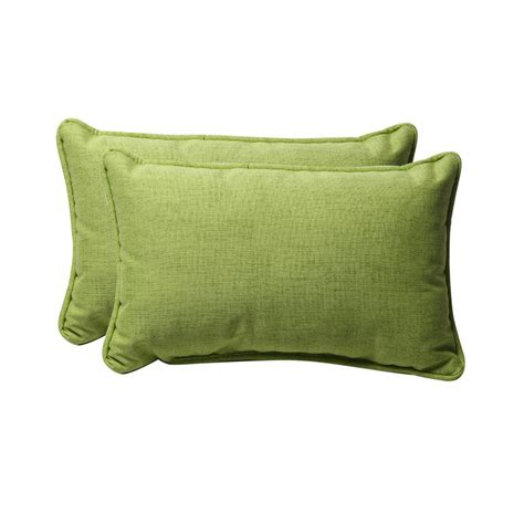 rectangular decorative pillows for shop pillow solid textured 2 pack lime solid