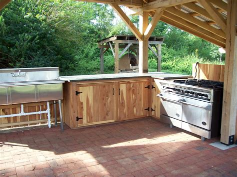 Lowes Hickory Kitchen Cabinets by Rising Earth The Oxmoor Farm Outdoor Kitchen