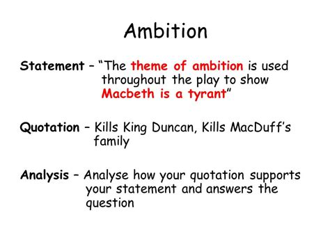 macbeth themes of ambition macbeth ppt download