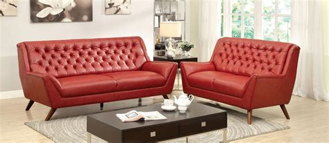 2 pcs button tufted sofa set