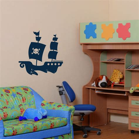 pirate ship wall stickers pirate ship with soaring birds wall decals