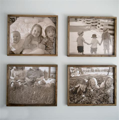 diy wooden frame diy rustic wood frame pictures into memories
