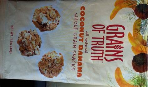 snacks with whole grains product spotlight grains of coconut banana whole