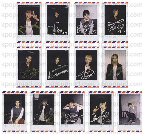 Photocard Set Kpop Seventeen Member details about seventeen boys be seek ver signed paper