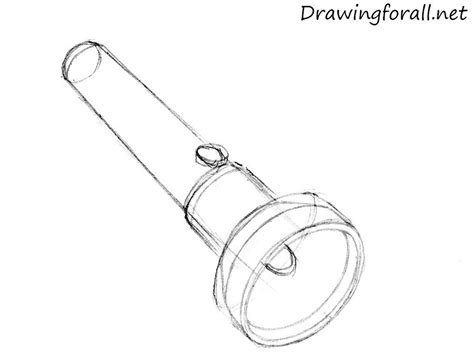 how to draw a how to draw a flashlight drawingforall net