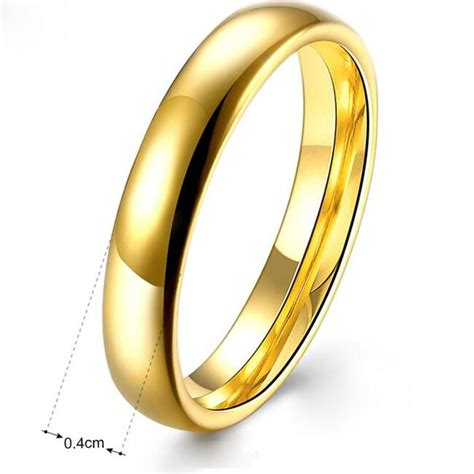 Verlobungsring Herren by Verlobungsring Edelstahl 999er Gold 24 Karat Vergoldet