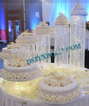 5 Tiered Acrylic Crystal Cake Stands,Decorative Cake Stands For Weddings Cakes   Buy Crystals