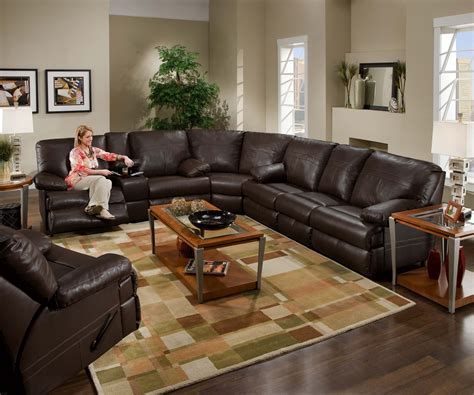 sectional leather with recliners we