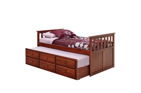 Bed Trundle Drawer by Buy Woodcrest Tbc 670 Pine Ridge Captain Bed With Trundle