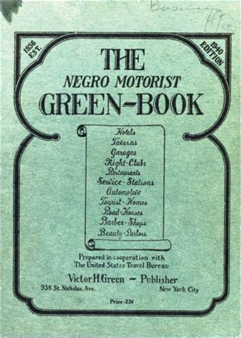 the in green books the negro motorist green book