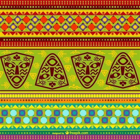 african pattern ai colorful african pattern vector free download