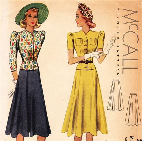 vintage pattern skirt vintage 1930s skirt and blouse sewing pattern mccall 3177