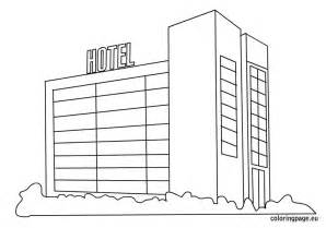 hotel coloring picture