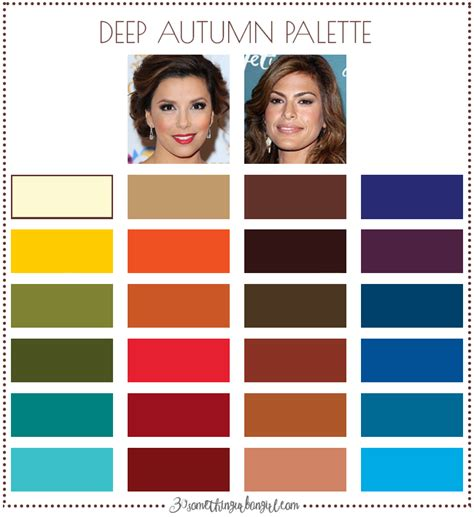 deep autumn color palette are you an autumn winter deep autumn 30 something