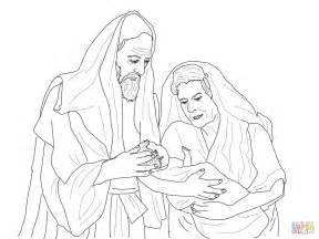 Abraham And Sarah With Isaac Free Colouring Pages Abraham And Isaac Coloring Page