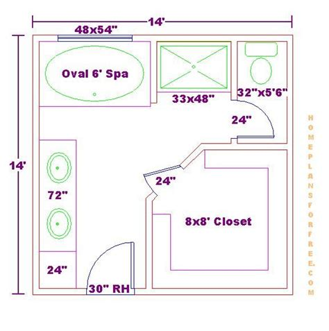 small master bedroom floor plans with bathroom thefloors co master bathroom 14x14 floor plan 033110 jpg click image to