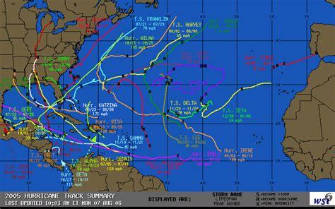 us hurricane history map intellicast 2005 hurricane track summary in united states