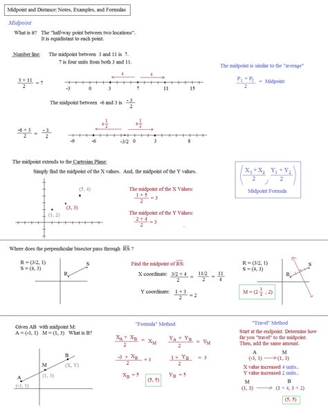 Distance Formula Worksheet With Answers by Midpoint And Distance Formula Worksheet Lesupercoin