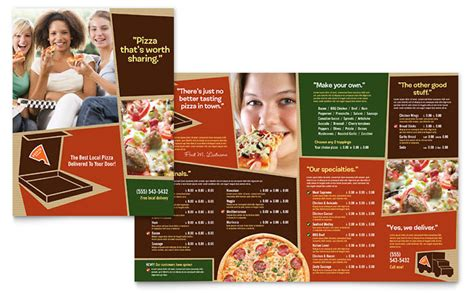 restaurant brochure templates pizza pizzeria restaurant menu template design