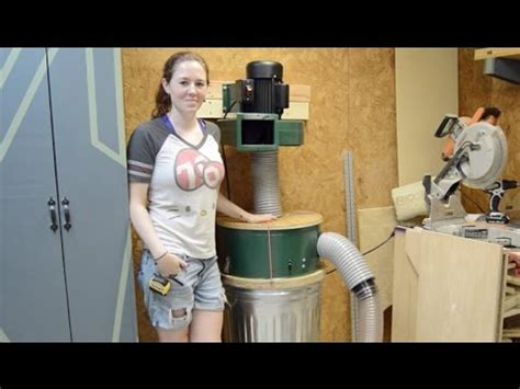 modify harbor freight dust collector youtube