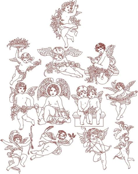 free embroidery design angel advanced embroidery designs victorian angel redwork set