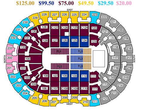 the q seating m 246 tley cr 252 e the tour quicken loans arena