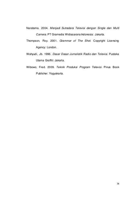 Jurnalistik Televisimutakhir penulisankarya ilmiah contoh jurnal darjito 3