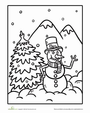 snowman reading coloring page snowman coloring coloring page education com