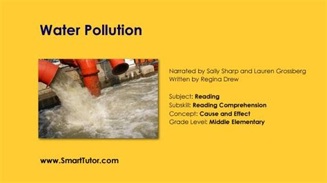 Cause And Effect Essay Pollution by Story Time Water Pollution Cause And Effect Text Structures Cause And Effect