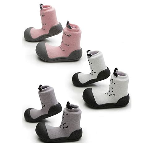 Attipas Cutie White L attipas cutie toddler shoes pink white grey