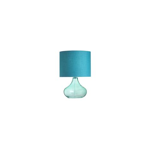 endon harrow tlte modern glass table l with teal finish