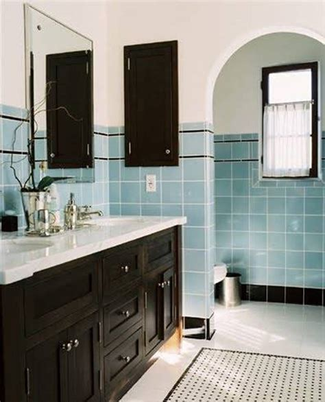 black white and blue bathroom 45 magnificent pictures of retro bathroom tile design ideas