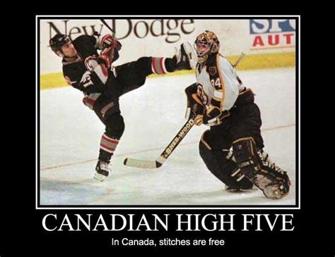 Funny Canadian Memes - canadian high five