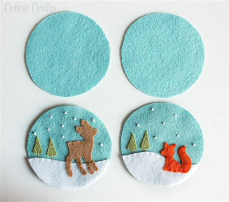 pattern felt deer and fox felt christmas ornaments cutesy crafts