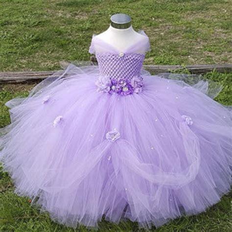 Dress Tutu 2 8y flower princess dress kid pageant wedding bridesmaid tutu dresses pink lavender
