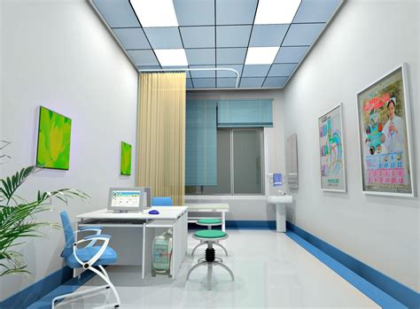 Clinic Interior Design by Hospital Clinic Interior Design Rendering 3d House Free