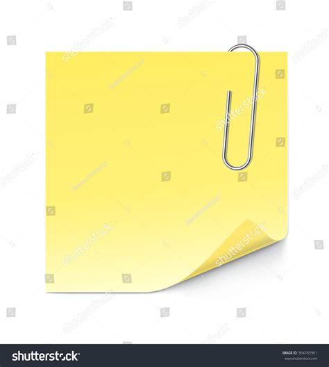 stick paper paper stick note paperclip isolated on stock vector