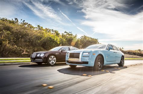 roll royce bentley 2014 rolls royce ghost vs 2014 bentley flying spur