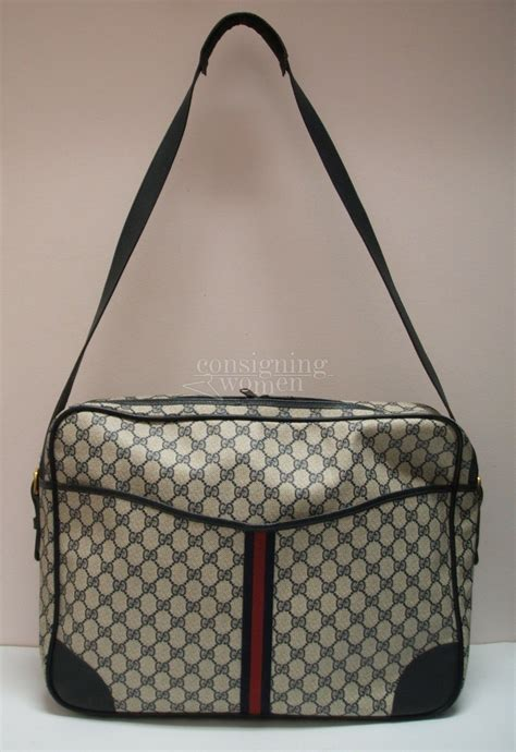 Gucci Large Bag Travel Bag gucci vintage navy monogram large travel messenger bag