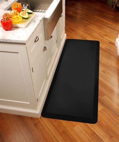 black wellness mats anti fatigue kitchen mat 6 x 3 on