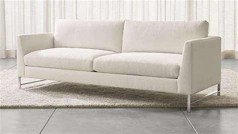 brushed leather sofa genesis sofa with brushed stainless steel base crate and