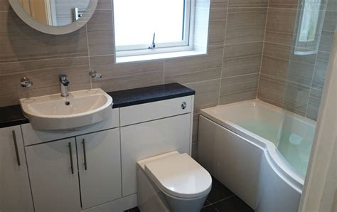 P Shaped Shower Bath Suites by P Shape Shower Bath Suite With Fitted Furniture Bathroom